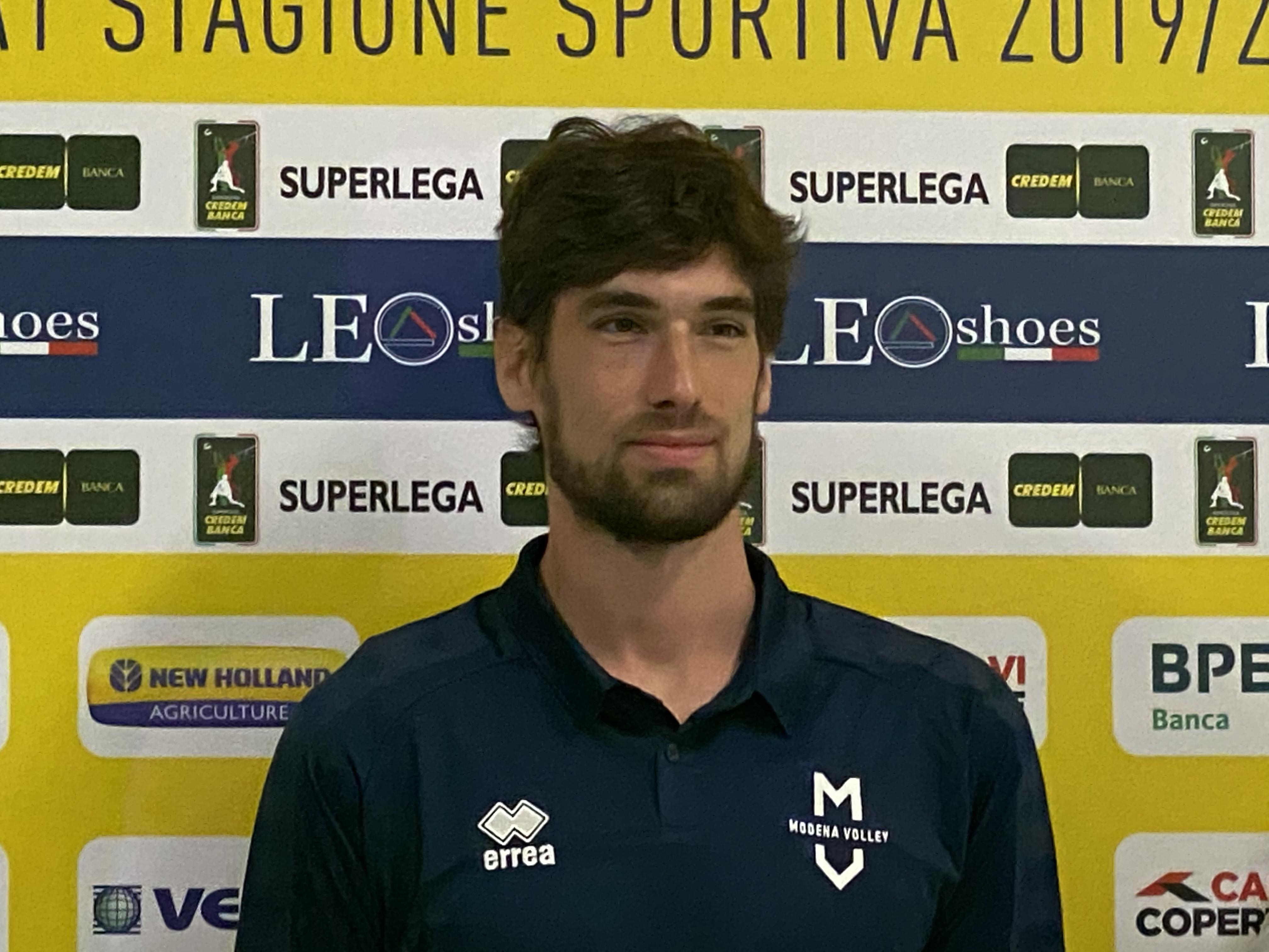 Modena Volley, presentazione Luca Vettori