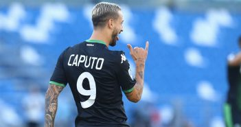 Sassuolo - Gazzetta di Modena - Caputo vince la scommessa e Del Piero lo invita nel suo ristorante