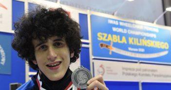 Medaglia d'argento ai mondiali per il fiorettista paralimpico modenese Leonardo Rigo